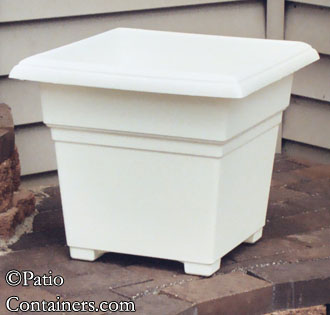 18″ White Countryside Patio Planter -- only one available!