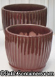 French Style Flower Pots in Oxblood Red color Set of three | Order soon, 3 left