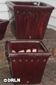 Provincial Square Pots Oxblood Red Set of Three – Order soon, two left