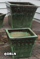 Provincial Square Pots Tropical Green set of three – Order soon, only one left